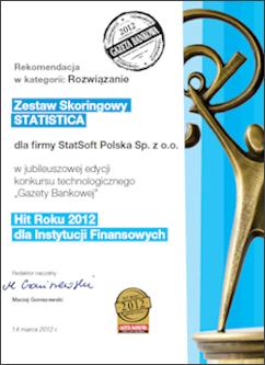 Dyplom Zestaw Skoringowy STATISTICA